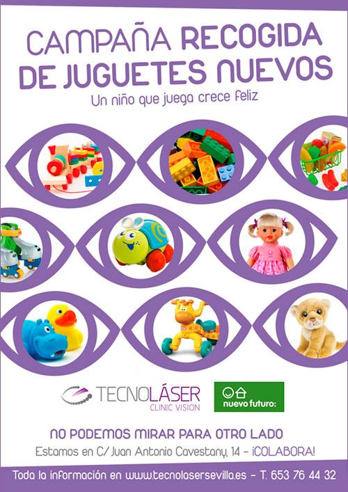 Tecnolaser colabora en 2104 con Nuevo Futuro recogiendo juguetes para sus niños.